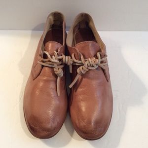 Frye pinkish leather loafers size 9.5